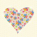 Invito floreale valentine day card del cuore Immagine Stock Libera da Diritti