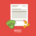 Invoice design. business icon. finance concept Royalty Free Stock Photo