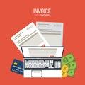 Invoice design. Money icon. Colorful illustration, vector Royalty Free Stock Photo