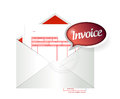Invoice envelope illustration design over a white background Royalty Free Stock Images