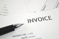 Invoice letter head Royalty Free Stock Photo