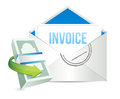 Invoice payment concept illustration design over a white background Royalty Free Stock Photography