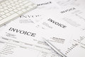 Invoices and bills close up difference paperwork at office concept ideas Stock Photography