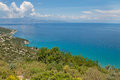 Ionian sea coast of the island of zakynthos in greece Royalty Free Stock Image