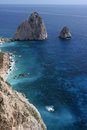Ionian sea landscape from zakynthos island in the place called mitzitheres Stock Image