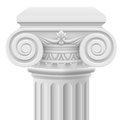 Ionic column classic illustration on white background Stock Images