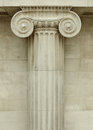 Ionic column detail greek architecture Stock Photo