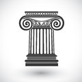 Ionic column vector Royalty Free Stock Photo
