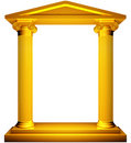 Ionic gold frame Stock Images