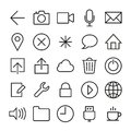 Ios icons set vector in style eps Royalty Free Stock Photography