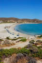 Ios island beach view Royalty Free Stock Images