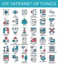 IOT : Internet of things concept icons Royalty Free Stock Photo