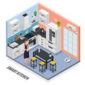IOT Isometric Composition Royalty Free Stock Photo