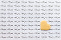 Iove letter with biscuit heart Royalty Free Stock Photo