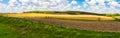 Iowa Farmland Panorama Royalty Free Stock Photo