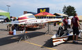 Iowa State University's solar car Royalty Free Stock Photo