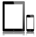 IPad 3 and iPhone 5 black vector Stock Photography