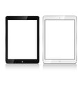 Ipad air black and white vector Stock Photo