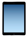 Ipad air illustrated design of the lated template Stock Photography