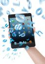 Ipad mini everything in my hand word explosion Royalty Free Stock Photo