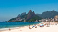 Ipanema beach on the sunny summer day rio de janeiro brazil Royalty Free Stock Photo