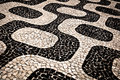 Ipanema Sidewalk Pattern Royalty Free Stock Photo