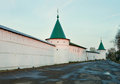 Ipatievsky monastery in morning kostroma city russia Royalty Free Stock Photo