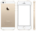 Iphone 5 gold Vector