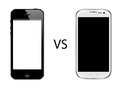 Iphone 5 vs Samsung galaxy s3 Royalty Free Stock Photo