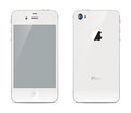 Iphone front and back sides white smartphone with a touchscreen the Royalty Free Stock Images