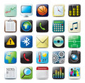 IPhone icons Royalty Free Stock Photo