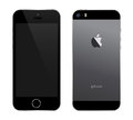 Iphone s black an illustration of the new Royalty Free Stock Image