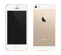 Iphone s gold a template illustration of the new color Royalty Free Stock Photo