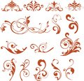 Floral Design Elements. Vector flower icons. Royalty Free Stock Photo