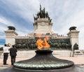 Ipiranga Monument Sao Paulo Symoblic Fire