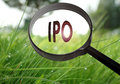 IPO Initial Public Offering Royalty Free Stock Photo