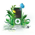 IPod green Stock Images