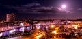 Ipswich Docks & Marina by night Royalty Free Stock Photo