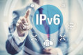 Ipv network protocol new internet larger address space for connected devices on Royalty Free Stock Images