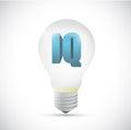 Iq idea intelligence light bulb concept.