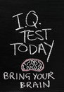 IQ Test Today Royalty Free Stock Photo