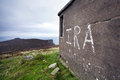 Ira graffiti on horn head ireland concrete structure at donegal Royalty Free Stock Images