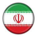 Iran button flag round shape Royalty Free Stock Photos