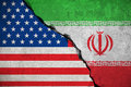 Iranian Flag On Broken Wall An...
