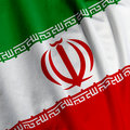 Iranian Flag Closeup Royalty Free Stock Photos