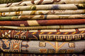 Iranian persian carpet shelf shop sale Stock Image
