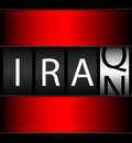 Iraq iran counter ticker of indicating conflicts of each country with the us Stock Photos