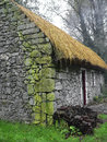 Ireland bunratty folk park old traditional cottage in the is represented in the th century the environments of the were Stock Photo