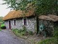 Ireland bunratty folk park an true traditional irish cottage Stock Photography