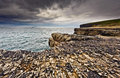 Ireland, cliffs under dramatic sky, Loop Head Stock Photography
